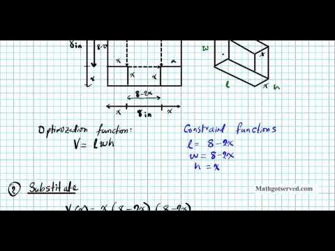 Cu4l4a Optimization and Modelling Part I Calculus Part I Box Fabrication Application derivatives