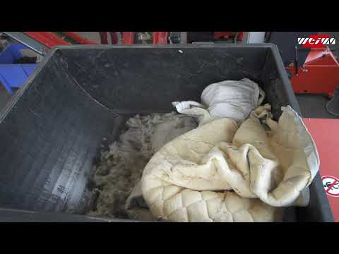 WLK series – shredding of used matrasses and textiles