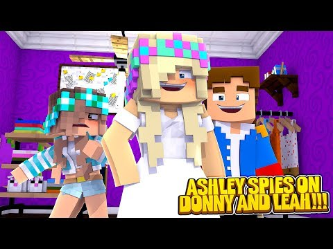 Minecraft DONNY'S PSYCHO EX GIRLFRIEND SPIES ON LEAH!!!