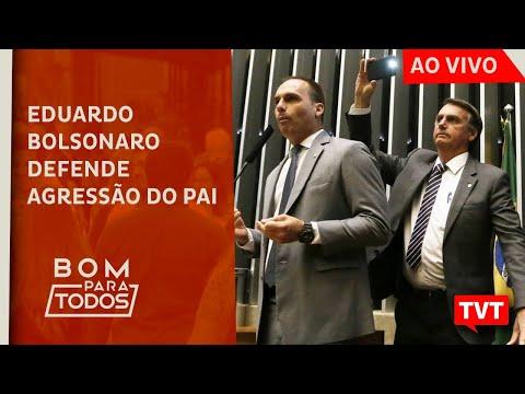 """🔴 Eduardo Bolsonaro Defende Agressão Do Pai E """"dá Banana""""  – Greve Dos Petroleiros – BPT 19.02.20 ☀"""
