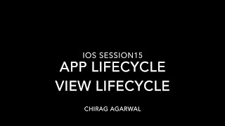 Learn IOS Tutorial 15 App Lifecycle & View Lifecycle