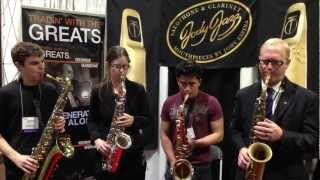 Members of the UNF Jazz Band Sax Section and Jody Espina play Impressions