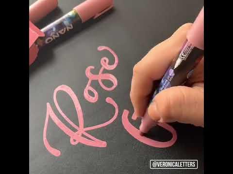 Rose gold chalk pen orange chronic spray