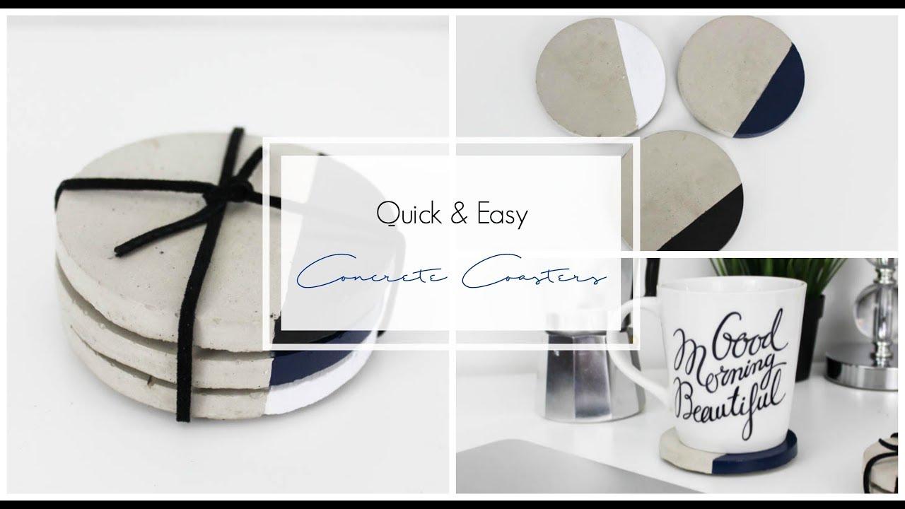 Concrete Coasters - YouTube