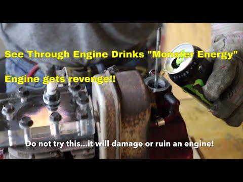 "See Through Engine Drinks ""Monster Energy"""