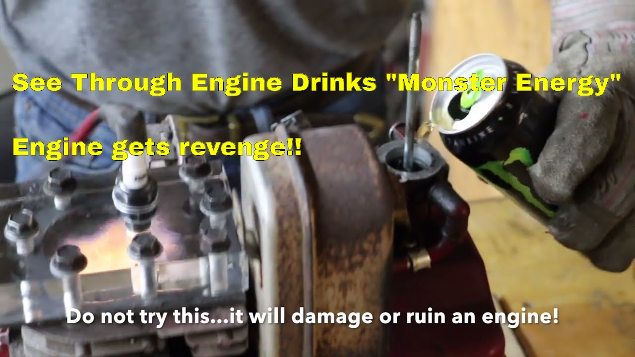 See Through Engine Drinks Monster Energy