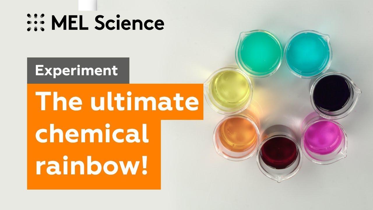 """Chemical rainbow"""" experiment - MEL Chemistry"""