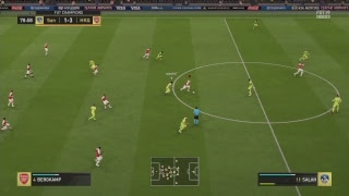 Road to Top100/e1 Fifa 19 weekend league with Arsenal squad  ( 22/3 )