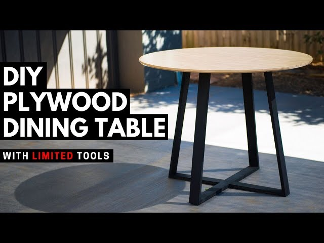 Diy Round Dining Table Modern Plywood Furniture You