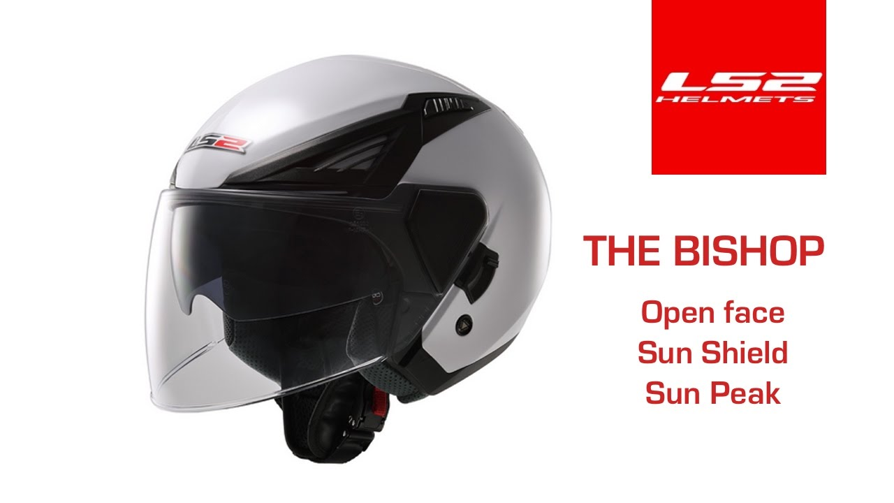 970e679c5f4dd The LS2 Bishop Open Face with swappable shield and sun peak - YouTube