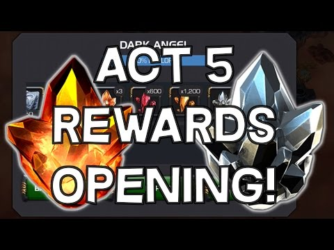 Act 5 Rewards Opening - Four Star Crystal + T4 Class Catalyst - Marvel Contest Of Champions