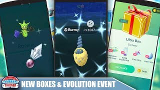 ARE THE NEW BOXES WORTH IT? + EVOLUTION EVENT INSIGHT FOR SHINY BURMY | POKÉMON GO
