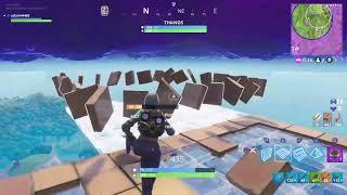 Fortnite | Killing Thanos 1v1 | Skybridge Victory Royale