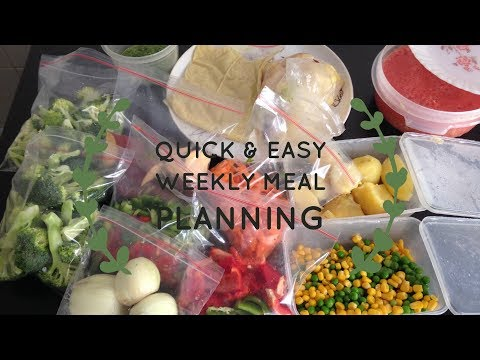 Weekly Meal Planning for working women/ students/ housewives