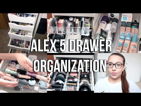 IKEA ALEX 5 DRAWERS ORGANIZATION | Affordable Makeup Storage + Acrylic Organizers | Jackie Ann