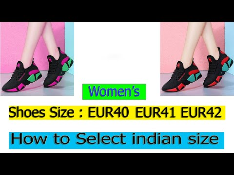 How To Convert Euro Shoe Sizes To Indian Sizes | Girl's Shoes Size Euro To India | Shein Shoes Size
