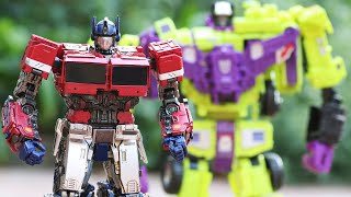 Transformers Adventure Robots Devastation Tomb of Optimus Prime & Pyramid Skeleton Lego Stop Motion!