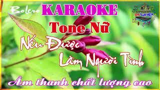 Karaoke Nếu Được Làm Người Tình Tone Nữ Beat mới Organ Đại Nghiệp