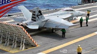 F/A-18戦闘機の電磁カタパルト射出、着艦、タッチアンドゴー - 最新鋭空母ジェラルド・R・フォード