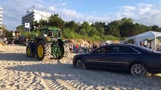 Holowanie auta na plaży- Międzyzdroje