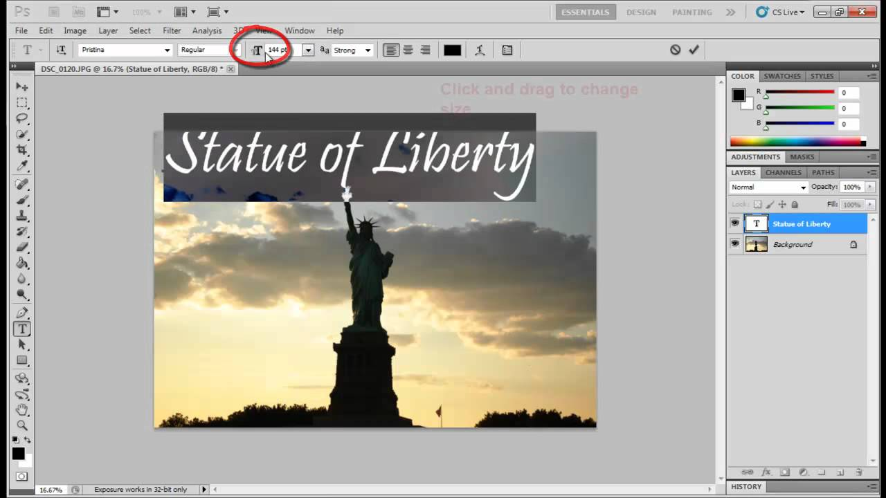 Photoshop - Change Font Size - YouTube