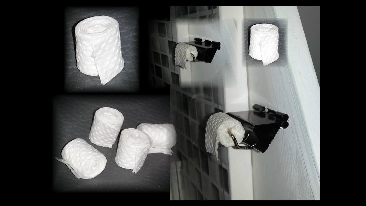 how to make a doll toilet paper holder youtube. Black Bedroom Furniture Sets. Home Design Ideas