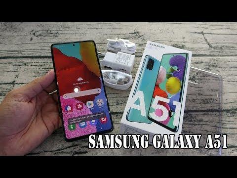 Samsung Galaxy A51 Prism Crush Blue color unboxing | camera, fingerprint, face unlock