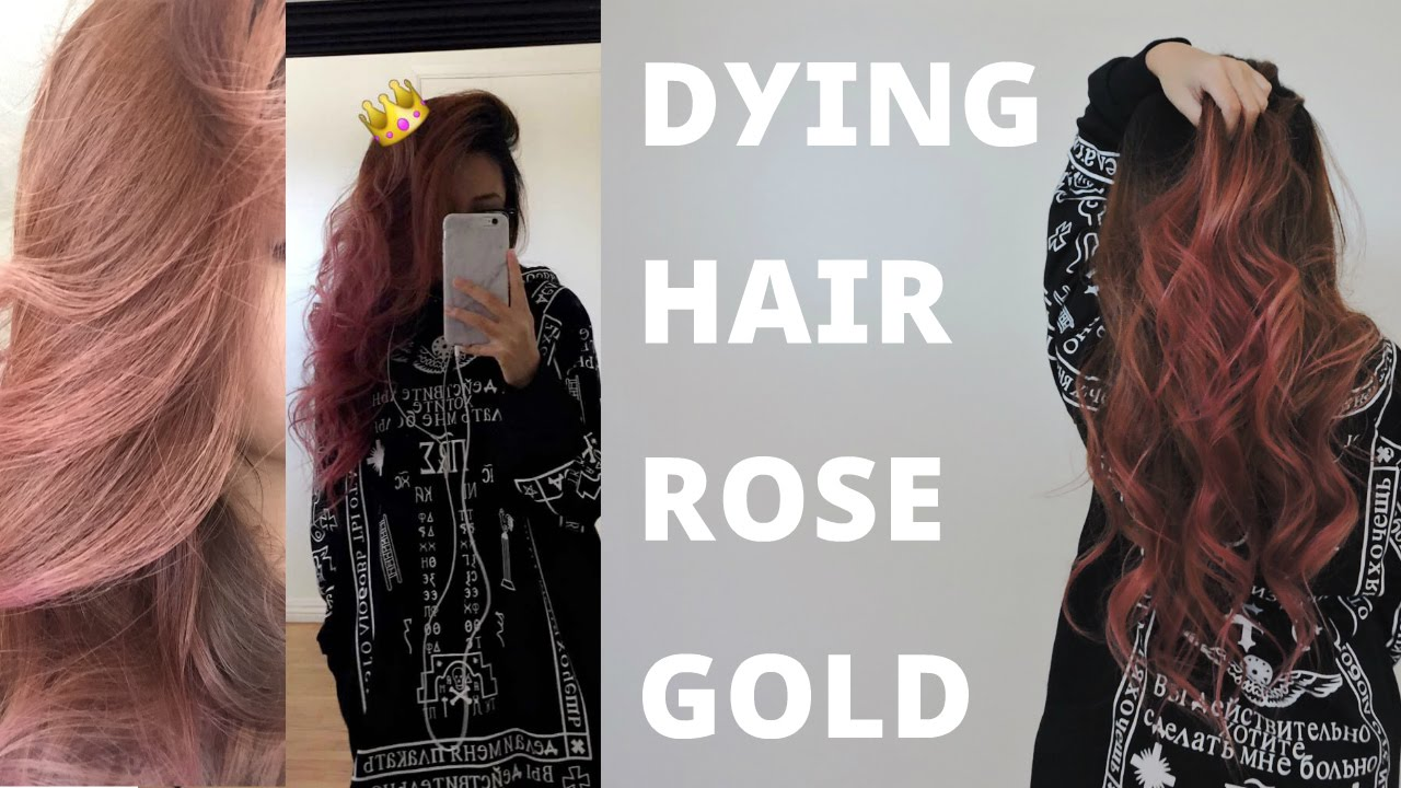 Dying Hair Rose Gold - YouTube