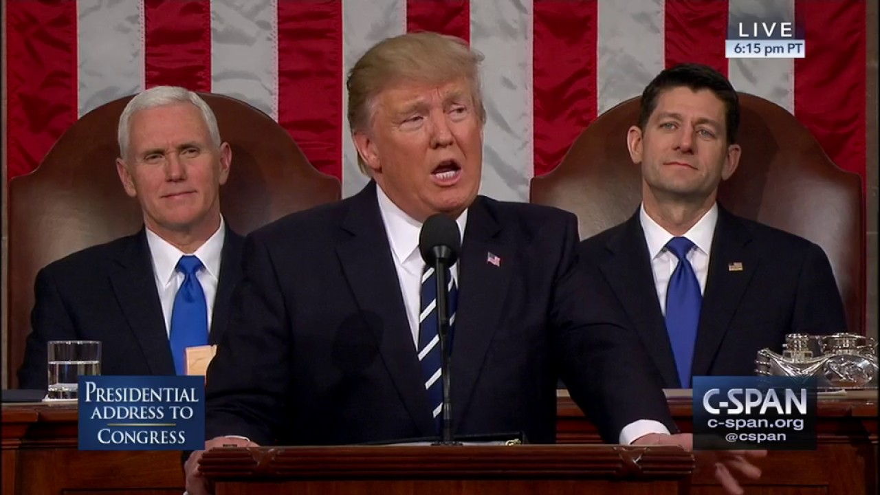 state of union address President donald trump's his first state of the union address is now history here's how it happened.