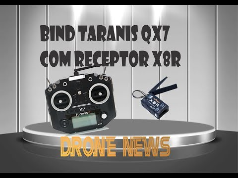 BIND RÁDIO TARANIS QX7 COM RECEPTOR X8R
