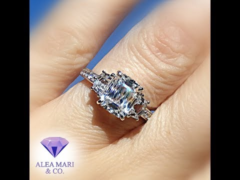 White Sapphire 14kt Engagement Ring Video