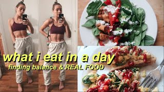~FINDING BALANCE~WHAT I EAT IN A DAY   HEALTHY, REAL FOOD, & CHIPOTLE