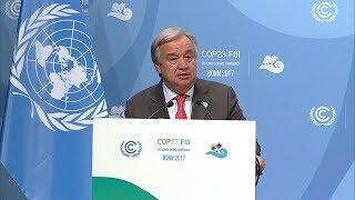 UN Secretary-General at UN Climate Change Conference - COP23 thumbnail