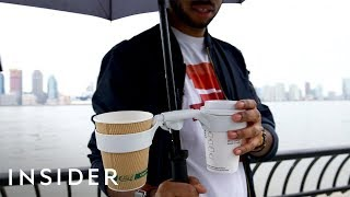 Unspillable Umbrella Cup Holder Gives You An Extra Hand While On The Go