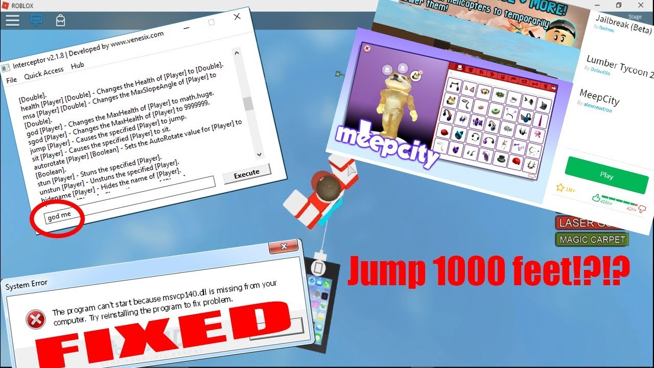 How To Hack Any Roblox Game Admin God Speed And More Dll