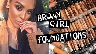 TOP 5 FOUNDATIONS FOR BROWN GIRLS| NikkisSecretx