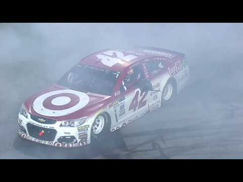 Kyle Larson burns it down during Richmond celebration