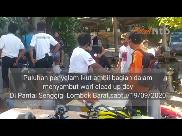 Antusias.!.World clean up day Di Senggigi