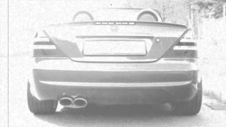 XCar-Style - Doppelrohr Endschalldämpfer für Mercedes SLK R170