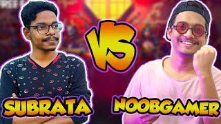 NoobGamer BBF VS Gaming Subrata Live (1vs1 Clash Squad) - Epic Match 🤣