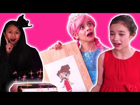 MALICE'S MAGIC TYPEWRITER! - Princess Pranks From Afar - Princesses In Real Life | Kiddyzuzaa