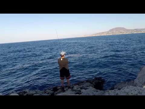 Shore Jigging - Atlantic Bonito 2017 (Live strike and fight) - ΠΑΛΑΜΙΔΑ 7-7-17