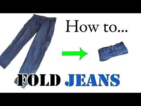 Army Packing Hack: How to Ranger Roll Jeans - Efficiently Folding Clothes for Travel