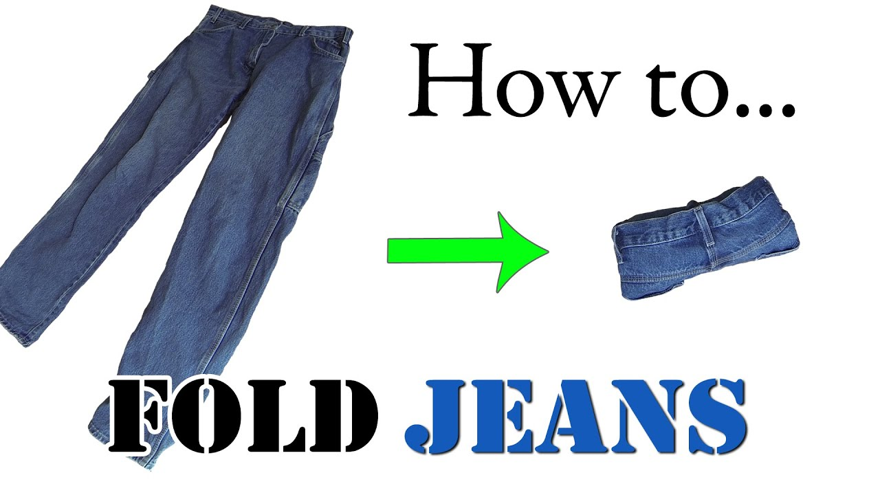 Best way to fold clothes for a trip - Army Packing Hack How To Ranger Roll Jeans Efficiently Folding Clothes For Travel