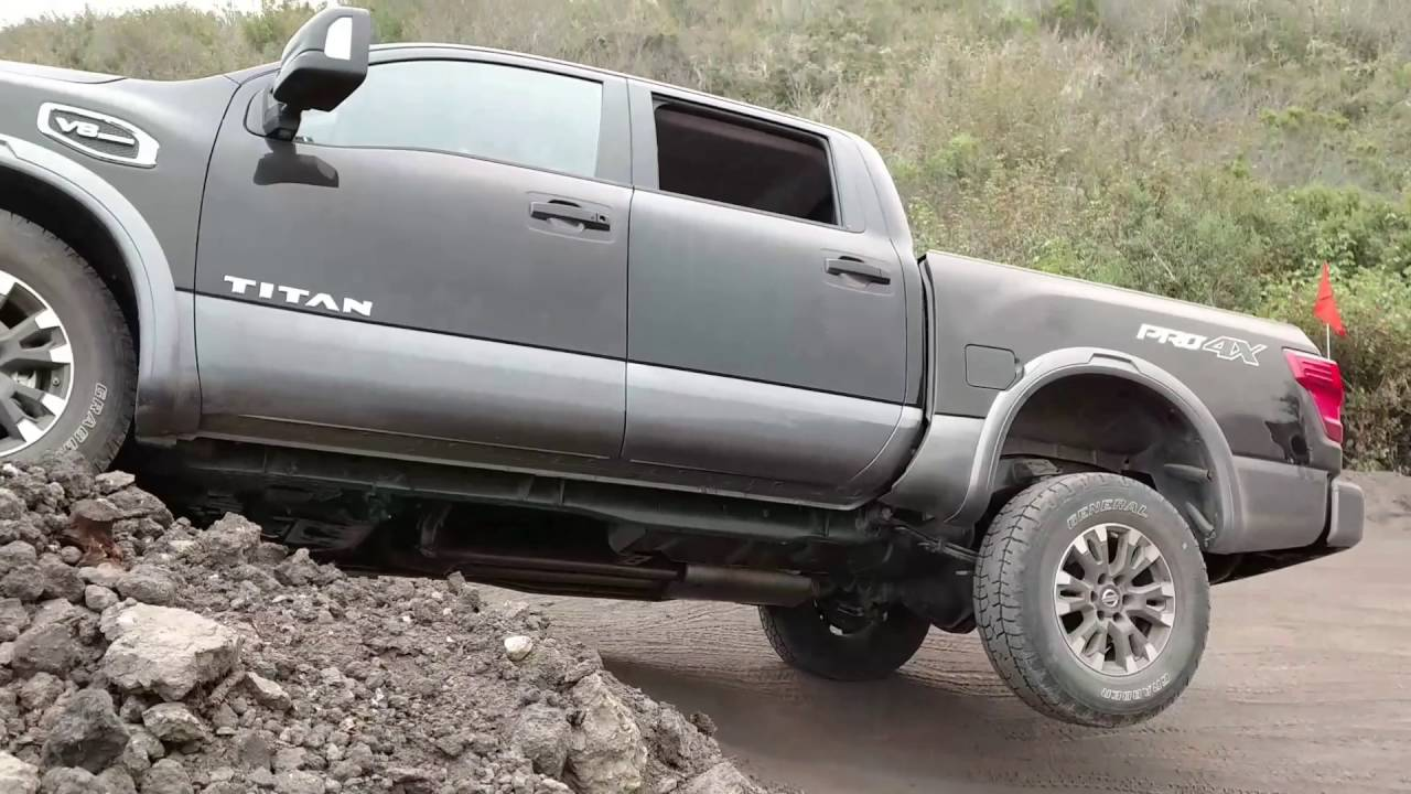 2017 nissan titan pro4x off road youtube. Black Bedroom Furniture Sets. Home Design Ideas