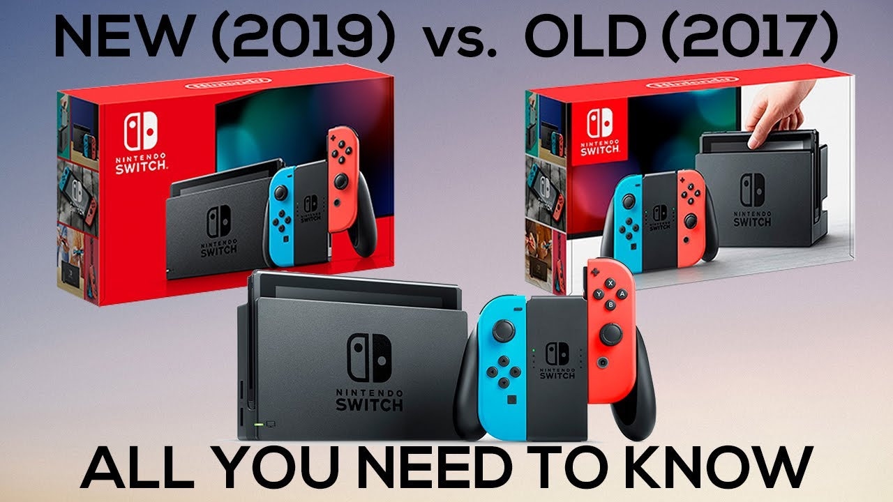 New 2019 Nintendo Switch Vs. Old 2017 Nintendo Switch - Unboxing ...