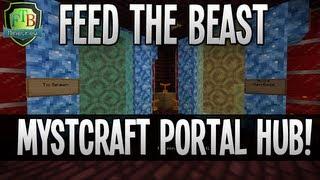 Feed The Beast: Mystcraft Portal Hub! (EP34)
