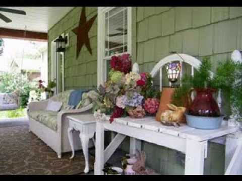 Front porch decorating ideas - YouTube