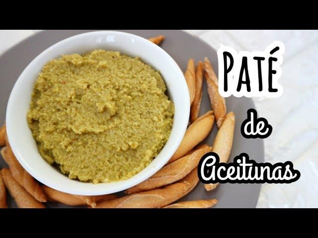 PATÉ DE ACEITUNAS | Tapenade de Aceitunas Verdes | Recetas Veganas fáciles y rápidas
