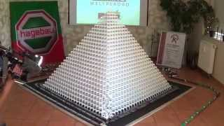 New Guinness World Record Trailer: Most Dominoes Toppled in a 3D Pyramid (40x40)